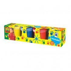Peinture à doigts 4 pots de 150 ml : Classique