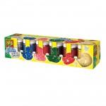Peinture pailletttes 6 pots de 50 ml : Classique
