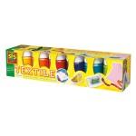 Peinture textile moderne 6 pots de 50 ml : Tendance