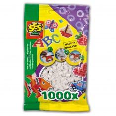 Sachet de 1000 perles Technique à repasser : Blanc