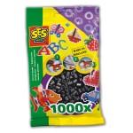 Sachet de 1000 perles Technique à repasser : Noir