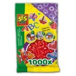 Sachet de 1000 perles Technique à repasser : Rouge