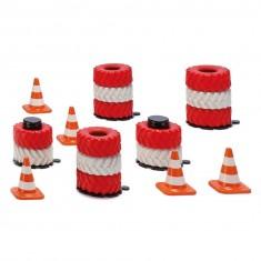 Circuit de voiture : Accessoires piles de pneus et pylônes