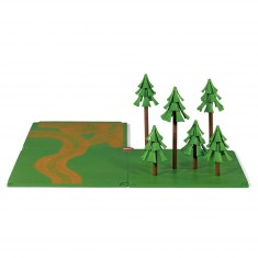 Kit d'accessoires SikuWorld : Chemins de campagne et forêt
