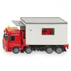 Modèle réduit en métal : Camion transport garages