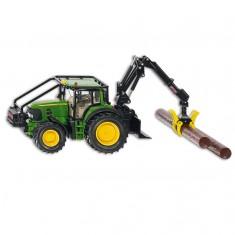 Modèle réduit en métal : Tracteur forestier John Deere