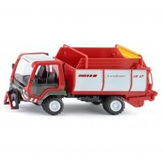 Modèle réduit en métal : Camion Lindner Unitrac avec wagon de chargement