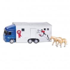 Modèle réduit en métal : Camion Transport de Chevaux