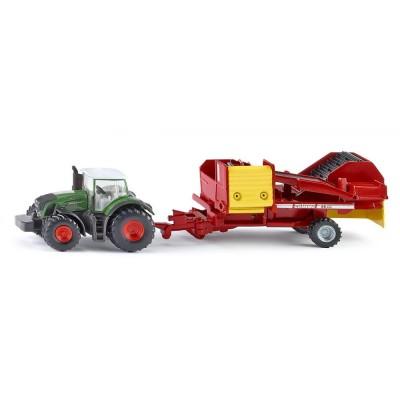 Modèle réduit en métal : Tracteur avec récolteuse de pommes de terre - Siku-1808