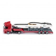 Modèles réduits en métal : Camion avec bateau de sport
