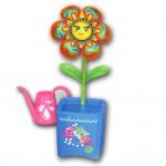 Fleur interactive Magic Blooms : Pot bleu