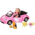 Poupée mannequin - Evi et sa voiture New Beetle : Hello Kitty