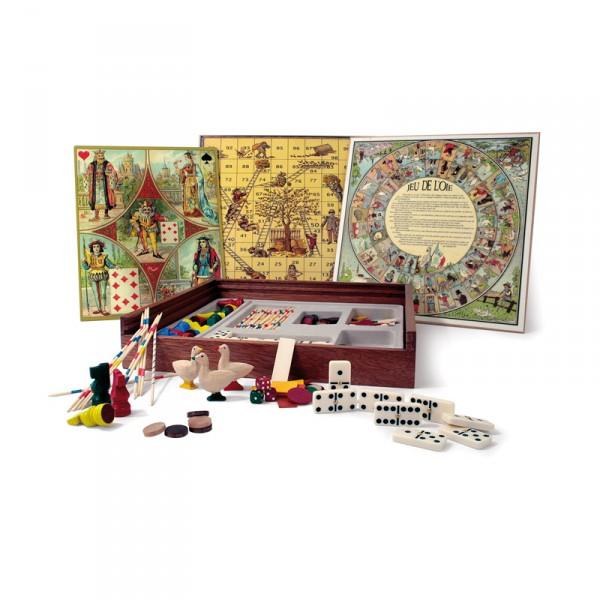 Coffret en bois : Jeux de société : Tradition - Smir-21319