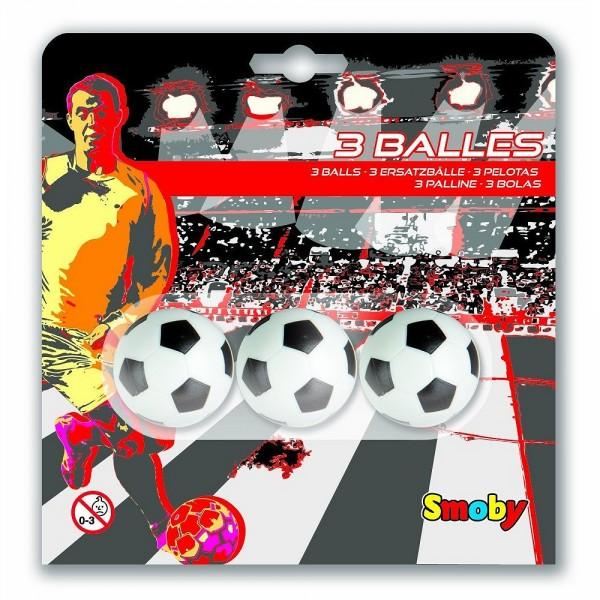 Balles de babyfoot : 3 balles plastique 34 mm - Smoby-140711