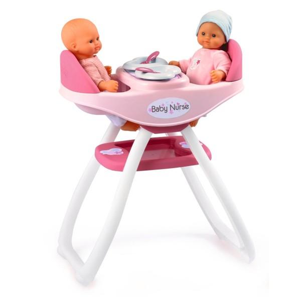 Baby nurse chaise haute jumeaux de smoby for Chaise haute smoby 3 en 1
