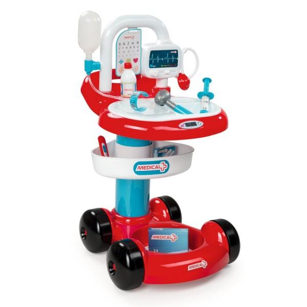 chariot m dical avec accessoires jeux et jouets smoby avenue des jeux. Black Bedroom Furniture Sets. Home Design Ideas