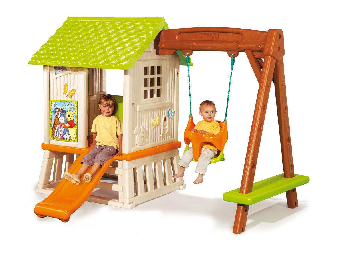 maison de jardin et balan oire winnie l 39 ourson cabane. Black Bedroom Furniture Sets. Home Design Ideas