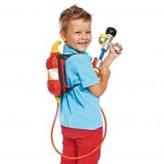 Pistolet à eau  avec recharge dos : Sam le pompier