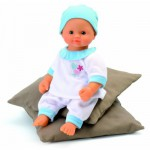 Poupon Mon bébé d'amour Baby nurse : Pyjama blanc et bleu