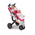 Poussette jumeau pour poupées Bébé confort (sans poupée)