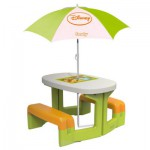 Table de pique-nique avec parasol Winnie l'ourson