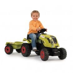 Tracteur à pédales Claas Farmer XL et sa remorque