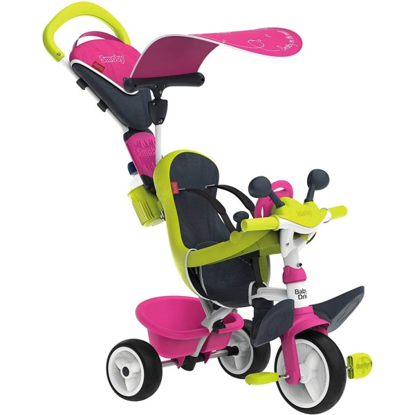 Tricycle Baby Driver Confort : Rose - Smoby-741201