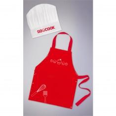 Coffret cuisine : Tablier et toque de cuisinier