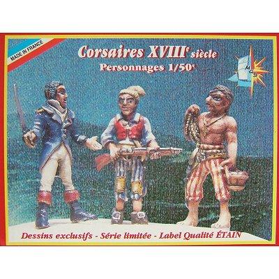 Coffret de 3 figurines -  Corsaires - Soclaine-BPF10