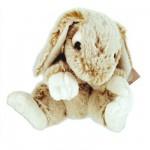 Peluche Lapin 22 cm : Blanc et beige