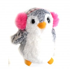 Peluche Pingouin 23 cm : Cache-oreilles