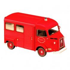 Modèle réduit en métal : Pompiers : Ambulance Citroën HY 1969
