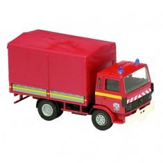 Modèle réduit en métal : Pompiers : Camion Renault bâche 1982