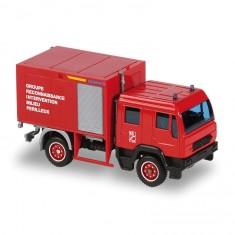 Modèle réduit en métal : Pompiers : Man GRIMP Double Cabine 2004