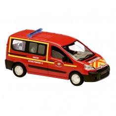 Modèle réduit en métal : Pompiers : Véhicule médicalisé Citroën Jumpy 2007