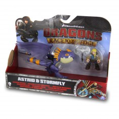 Figurine Dragons : Dragon et son dresseur : Astrid et Tempête violet