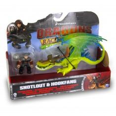 Figurine Dragons : Dragon et son dresseur : Rustik et Krochefer vert