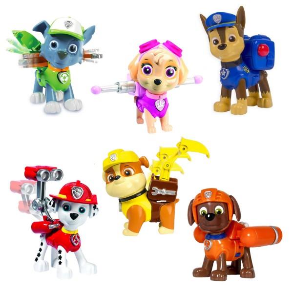 figurine pat 39 patrouille paw patrol sac dos coffret 6 figurines jeux et jouets spin. Black Bedroom Furniture Sets. Home Design Ideas