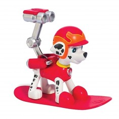 Figurine Pat'Patrouille (PAW Patrol) : Sac à dos Hiver : Snowboard Marcus
