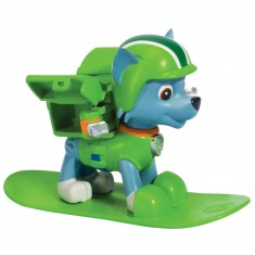 Figurine Pat'Patrouille (PAW Patrol) : Sac à dos Hiver : Snowboard Rocky