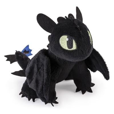 Peluche 20 cm dragons krokmou queue bleue jeux et - Peluche furie nocturne ...
