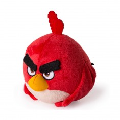 Peluche Angry Bird 12.5 cm : Red (rouge)