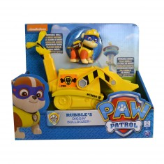 Véhicule avec figurine Pat'Patrouille (PAW Patrol) : Bulldozer et Ruben