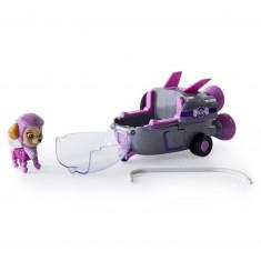 Véhicule avec figurine Pat'Patrouille (PAW Patrol) : Fusée et Stella