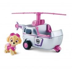 Véhicule avec figurine Pat'Patrouille (PAW Patrol) : Hélicoptère et Stella