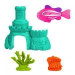 Jouet pour le bain : Robo fish avec château : Poisson rose et château bleu