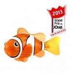 Jouet pour le bain : Robo Fish lumineux Orange et Blanc