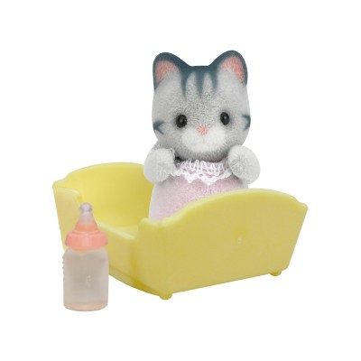 sylvanian family 3552 figurine b b chat gris jeux et jouets sylvanian families avenue. Black Bedroom Furniture Sets. Home Design Ideas