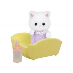 Sylvanian Family 5217 : Figurine et accessoires : Bébé chat persan