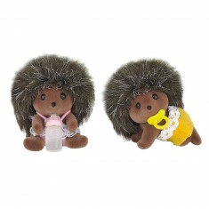 Sylvanian Family 5218 : Figurines : Bébés jumeaux hérissons